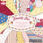 Набор бумаги для скрапбукинга First Edition -  Family Ties, 48 листов, размер 20х20 см. - ScrapUA.com