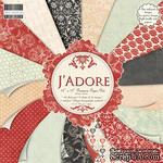 Набор бумаги для скрапбукинга First Edition - J'adore, 16 листов, размер 30х30 см - ScrapUA.com