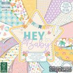 Набор бумаги для скрапбукинга First Edition - Hey Baby, 48 листов, 20х20 см - ScrapUA.com
