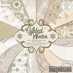 Полный набор новогодней бумаги от First Edition - Gilded Winter, 20х20 см, 48 листов - ScrapUA.com