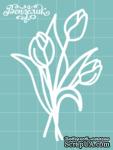 Чипборд от Вензелик - Тюльпаны 03, размер: 48x70 мм - ScrapUA.com