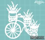 Чипборд от Вензелик - Велосипед с цветами 07, размер: 70x75 мм - ScrapUA.com