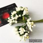 Веточки с ягодками, цвет слоновой кости, 12 штук - ScrapUA.com