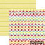 Лист скрапбумаги My Mind's Eye Rainbow Harlequin, 30х30 см, двусторонняя - ScrapUA.com
