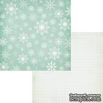 Лист двусторонней скрапбумаги Fancy Pants - Timbergrove Powder Paper, 30х30 см - ScrapUA.com