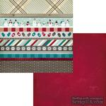 Лист двусторонней скрапбумаги Fancy Pants - Timbergrove Strips Paper, 30х30 см - ScrapUA.com