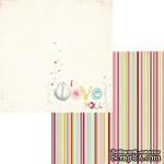 Лист двусторонней скрапбумаги Fancy Pants - Be.Loved I Love You Paper, 30х30 см - ScrapUA.com