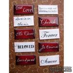 ЦЕНА СНИЖЕНА! Фишки для скрапбукинга с эпоксидным покрытием О любви… - ScrapUA.com