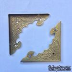 Уголок накладной металлический для декорирования, 40х40х56мм, античное золото, 1 деталь - ScrapUA.com