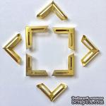 Набор металлических уголков, цвет золото, 20х20х5мм, 4 шт. - ScrapUA.com