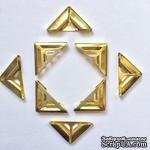 Набор металлических уголков, цвет золото, 7х4мм, 4 шт. - ScrapUA.com