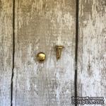Заклепка, золото, диаметр 6мм, ножка 6мм,, 1 шт.(2 детали) - ScrapUA.com