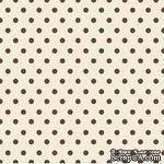 Ткань 100% хлопок - Коричневые горошки на кремовом, 45х55 см - ScrapUA.com