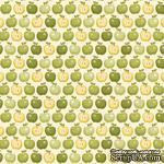Ткань 100% хлопок - Зеленые яблочки, 45х55 см - ScrapUA.com