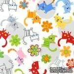 Ткань 100% хлопок - Яркие котики, 45х55 см - ScrapUA.com
