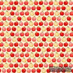 Ткань 100% хлопок - Красные яблочки, 45х55 см - ScrapUA.com