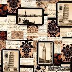 Ткань 100% хлопок - Письма из Италии, 45х55 см - ScrapUA.com