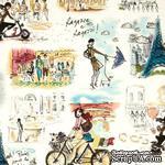 Ткань 100% хлопок - Девушки на улицах Парижа, 45х55 см - ScrapUA.com