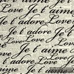 Ткань 100% хлопок - Французские слова о любви на газете, 45х55 см - ScrapUA.com