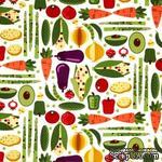 Ткань 100% хлопок - Овощи для кухни, 45х55 см - ScrapUA.com