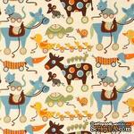 Ткань 100% хлопок - Игрушки на колесах, 45х55 см - ScrapUA.com
