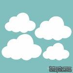Чипборд от Вензелик - Набор облаков, размер: 70x100 мм - ScrapUA.com