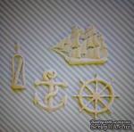 Гибкие пластиковые фигурки - Корабль, 5х4,5см - ScrapUA.com