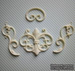 Гибкие пластиковые фигурки - Набор завитков, 4шт., от 4,2 до 7,5 см - ScrapUA.com
