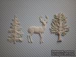 Набор гибких пластиковых фигурок - Зимний лес, 3 эл., высота элементов 7 см - ScrapUA.com