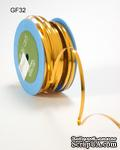 Лента - Metallic Foil / Twist Tie - Золотая, ширина - 5 мм, длина 90 см - ScrapUA.com
