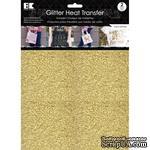 """Набор термотрансферных глиттерных листов от Best Creation - Glitter Heat Transfer 8.5""""X11"""", Gold, 2 листа - ScrapUA.com"""