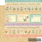 Лист двусторонней скрапбумаги Graphic 45 - Sweet Sentiments - Spring Has Sprung, 30х30 см - ScrapUA.com