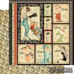 Лист двусторонней скрапбумаги Graphic 45 - Couture - Beautiful, 30х30 см - ScrapUA.com