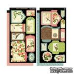 Высечки Graphic 45 - Botanical Tea - Tags & Pockets, размер 30х30 см - ScrapUA.com