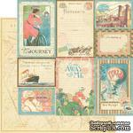 Лист скрапбумаги Graphic 45 - Come Away With Me - Vintage Voyage, двусторонняя, 30х30 см - ScrapUA.com
