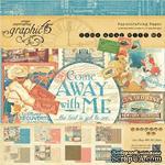 ЦЕНА СНИЖЕНА! Набор скрапбумаги Graphic 45 - Come Away With Me - Pad, 20х20 см, двусторонняя, 8 листов - ScrapUA.com