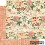 Лист бумаги Graphic 45 - Time to Flourish - February Flourish, размер 30х30 см, двусторонняя - ScrapUA.com