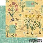 ЦЕНА СНИЖЕНА! Лист бумаги Graphic 45 - Time to Flourish - April Flourish, размер 30х30 см, двусторонняя - ScrapUA.com