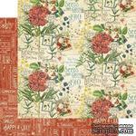 ЦЕНА СНИЖЕНА! Лист бумаги Graphic 45 - Time to Flourish - July Flourish, размер 30х30 см, двусторонняя - ScrapUA.com