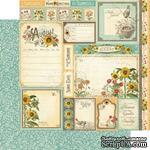 ЦЕНА СНИЖЕНА! Лист бумаги Graphic 45 - Time to Flourish - August Cut Apart, размер 30х30 см, двусторонняя - ScrapUA.com