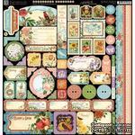 Лист наклеек Graphic 45 - Time to Flourish - Decorative Sticker - ScrapUA.com