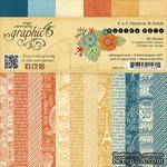 Набор скрапбумаги Graphic 45 - World's Fair - Patterns & Solids Pad, 15х15 см, двусторонняя, 12 листов - ScrapUA.com