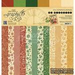 Набор скрапбумаги Graphic 45 - St Nicholas - Patterns and Solids Pad, 30х30 см, двусторонняя, 12 листов - ScrapUA.com