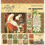 Набор скрапбумаги Graphic 45 - St Nicholas - Pad, 30х30 см, двусторонняя, 12 листов - ScrapUA.com