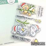 Набор штампов Gerda Steiner - Christmas Kitten 4x6 Clear Stamp Set - ScrapUA.com