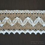 Кружево х/б, вязаное, цвет бело-бежевый (серый), ширина 8.5 см, длина 90 см - ScrapUA.com