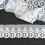 Кружево х/б, вязаное, цвет белый, ширина 6.5 см, длина 90 см - ScrapUA.com