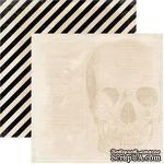 Лист скрапбумаги My Mind's Eye Skull, 30х30 см, двусторонняя - ScrapUA.com