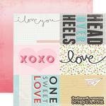 Лист скрапбумаги от Echo Park - Journaling Cards - Head Over Heels, 30х30 см - ScrapUA.com