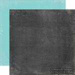 Лист скрапбумаги от Echo Park - Black /Teal, 30х30 см - ScrapUA.com